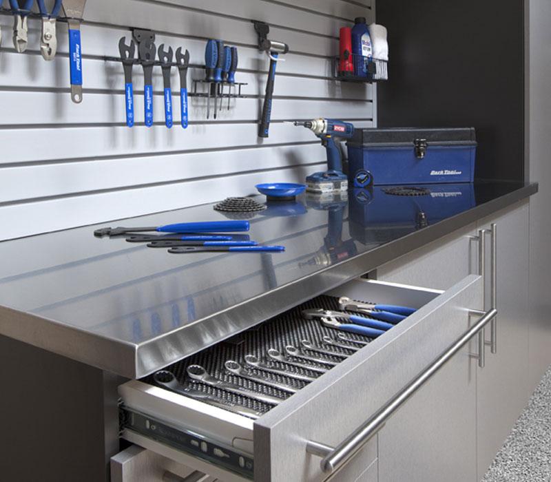 garage slotwall tool storage