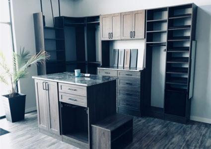modern closet showroom